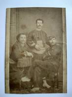 Photo CDV Militaire - LÉGIONNAIRE Sergent Et Ses Copains Zouaves - 1877 - BLIDAH - Identifié - Voir Dos - En L'état - War, Military