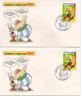 2 Enveloppes JOURNEE DU TIMBRE 1999 ASTERIX Et OBELIX - Oblitération 83 HYERES Scans Recto/verso - Cartas