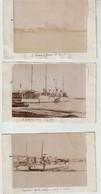 Toulon Marine  5 Photos Originales De Navires Militaires 190? Le Fabert Ecole Des Mousse, A Hire, Le Durantal... - Barche