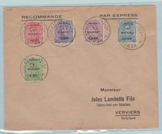 Bezettings Zegels, Reich, Eupen Malmedy, Verstuurd Uit Herstal, Lambotte Verviers - Militares (Sellos M)