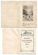 Petit Calendrier De Poche En Allemand Complet Brieftaschen Kalender Ein Frohes Jahr Calendar Calendario 1912 - Small : 1901-20