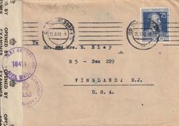 Allemagne Zone AAS Lettre Censurée Düsseldorf Pour Les Etats Unis 1947 - American,British And Russian Zone
