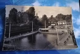 80 - AMIENS - PISCINE MUNICIPALE - CPSM CARTE PHOTO FORMAT CPS ECRITE EN 1952 - Amiens