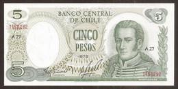 CHILE. 5 Pesos 1975. Pick 151. UNC - Chile