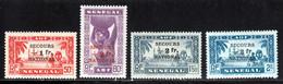 Senegal 1941 Yvert 173 / 176 ** TB Bord De Feuille - Unused Stamps