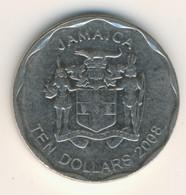 JAMAICA 2008: 10 Dollars, KM 190 - Jamaica