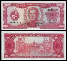 URUGUAY BANKNOTE - 100 PESOS (19674) P#47a UNC (NT#03) - Uruguay