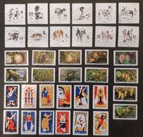 Lot De 72 Timbres Adhésifs Oblitérés De FRANCE (6 Séries Complètes). - Adhesive Stamps