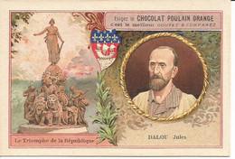 Chromo  CHOCOLAT POULAIN  /  Les  Sculpteurs  Célèbres  /  DALOU Jules  /  Statue :  Le Triomphe De La République - Poulain