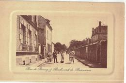 CPA   RUE DE BOISSY ET BOULEVARD DE BREVANNES - Boissy Saint Leger