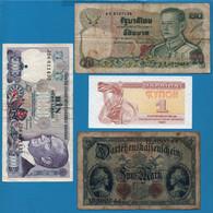 LOT BILLETS 4 BANKNOTES : DEUTSCHES REICH - THAILAND - TURKEY - UKRAINA - Lots & Kiloware - Banknotes