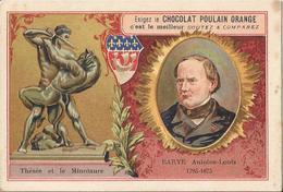Chromo  CHOCOLAT POULAIN  /  Les  Sculpteurs  Célèbres /  BARYE Antoine-Louis  /  Statue De  Thésée Et Le Minotaure - Poulain