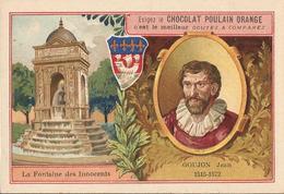Chromo  CHOCOLAT POULAIN  /  Les  Sculpteurs  Célèbres /  GOUJON  Jean  /  Son Oeuvre : Fontaine Des Innocents - Poulain