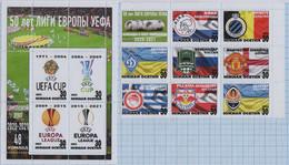 Fantazy Labels / Private Issue / Football Teams. UEFA. 50 Years Of The Europa League. - Viñetas De Fantasía