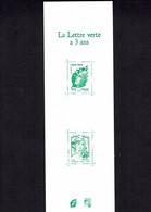 CARNET GOMME N° 1521 - LA LETTTRE VERTE A 3 ANS - - Other