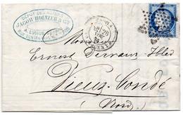 Paris - LAC Affr N° 60A Obl Etoile 5 Tàd Bt Magenta - 1849-1876: Période Classique