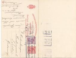 DÄNEMARK 1925 - 10 + 15 Öre Ganzsache Auf Doppelpostkarte Mit 10 + 15 Öre **, Gel.v.Kopenhavn > Tulln ... - Covers & Documents