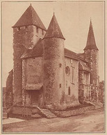 G2210 France - Les Trois Tours De L'église De Morlanne - Stampa - 1936 Old Print - Stampe & Incisioni