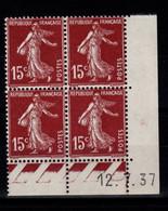 Coin Daté YV 189 N** Semeuse Du 12.7.37 - ....-1929