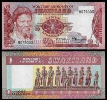 SWAZILAND BANKNOTE - 1 LILANGENI (1974) P#1a UNC (NT#03) - Swaziland