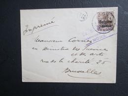 OC 1 Alleen Op Brief Verstuurd Als Drukwerk Uit Mons/Bergen -  Prüfungsstempel Mons - [OC1/25] Gen. Gouv.