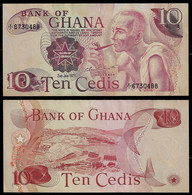 GHANA BANKNOTE - 10 CEDIS 1978 P#16 XF/AU (NT#03) - Ghana
