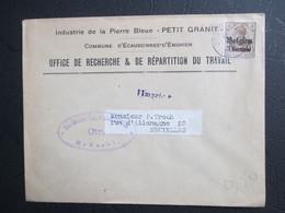 OC 1 Alleen Op Brief Verstuurd Als Drukwerk Uit Ecaussinnes - Prüfungsstempel Brüssel - [OC1/25] Gen. Gouv.
