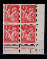 Coin Daté - Iris YV 433 N** Du 1.4.40 - 1940-1949