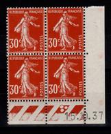 Coin Daté - YV 360 N** Semeuse Du 15.10.37 , 3 Points - 1930-1939