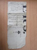 """Document Manuscrit - D'une Côté Des Noms, De L'autre, """"la Position Du Soldat"""" Avec Maniement Des Fusils - Vers 1828 - Manuskripte"""