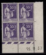 Coin Daté - YV 363 N** Type Paix Du 15.9.37 - 1930-1939
