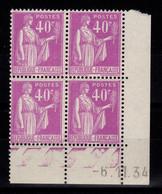 Coin Daté YV 281 N** Type Paix Du 6.11.34 - 1930-1939