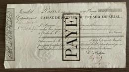 LA DYLE - BELGIQUE - MANDAT - CAISSE DE SERVICE DU TRESOR IMPERIAL. 1813 - Otros
