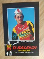 Cyclisme - Carte Publicitaire TI RALEIGH Mc GREGOR : KNETEMANN - Ciclismo