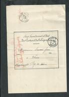 Sous Secrétariat D'état Des Postes Et Télégraphes ,colis En Souffrance à Bilbao (Espagne) Expédié De Thiers (Puy De Dôme - 1877-1920: Semi Modern Period