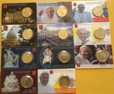 Vatican : Lot De 11 Coincards 0,50 Euros 2010-2020 - Vatican