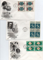 Lot De 3 Enveloppes 1er Jour - 1961-1970