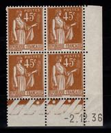 Coin Daté YV 282 N** Type Paix Du 2.12.36 - 1930-1939