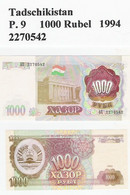 Tadschikistan  P. 9  1000 Rubel UNC - Tajikistan