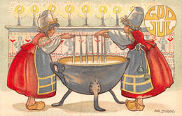 P21-TBB-846 : CARTE ILLUSTREE PAR ANNA STENBERG. GOD JUL - Other Illustrators