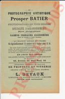 Publicité 1905 Photographie Prosper Batier Limoges Ets Peinture Devaux 71 Avenue Garibaldi 231CH28 - Unclassified