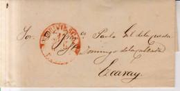 Prefilatelia 1848 Carta De Briviesca A Ezcaray Marca Briviesca Rioja - ...-1850 Prefilatelia