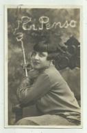 DONNA PRIMO PIANO  1927 - FOTOGRAFICA  VIAGGIATA  FP - Femmes