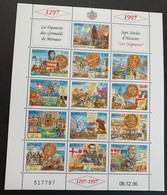 1997 Monaco   Y Et T 2089/2101** - Blocks & Sheetlets