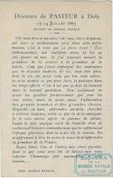 39  Dole  - Louis Pasteur  Discours  Le 14  Juillet 1883 Devant Sa Maison Natale - Dole