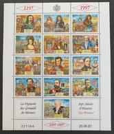1997 Monaco   Y Et T 2112/124** - Blocks & Sheetlets