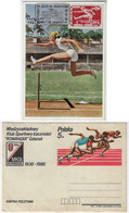 Brasil 1956 Maximum Card Sport Athletics Hurdle Race Poland 1986 Postal Stationery - Atletismo