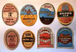 Bieretiketten Biere Etiquette Beer Labels Lot GB X8 L01 #A5 - Bier