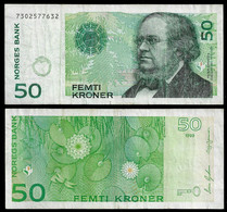 NORWAY BANKNOTE - 50 KRONER 1999 P#46b VF (NT#03) - Norway