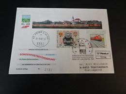 TR2054 - Enveloppe Adressed   Austria - 2001 -ST.Peter-Seitenstetten - ST. Valentin - Trains